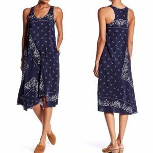 ✨ Theory Apalania Bandana Silk A-Line Dress ✨